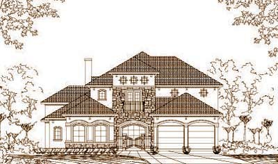 Tuscan Style House Plans Plan: 19-1063