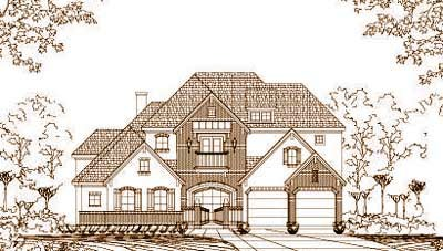 French-country Style Floor Plans Plan: 19-1064