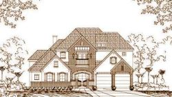 French-Country Style Home Design Plan: 19-1064