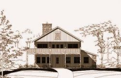 Country Style Home Design Plan: 19-1067