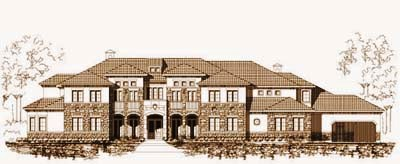 Tuscan Style Floor Plans Plan: 19-1070