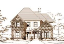 French-Country Style Home Design Plan: 19-1074