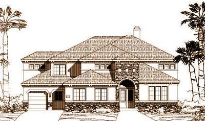 Tuscan Style House Plans Plan: 19-1085
