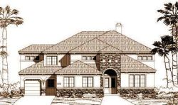 Tuscan Style Floor Plans Plan: 19-1085