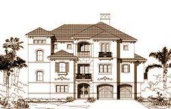 Coastal Style Home Design Plan: 19-1140
