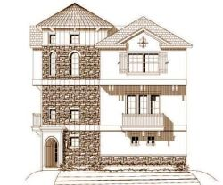 French-Country Style House Plans Plan: 19-1148