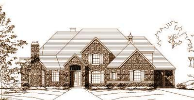 European Style House Plans Plan: 19-1188