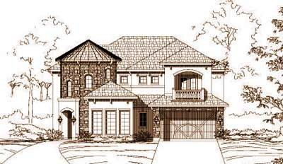 French-country Style Floor Plans Plan: 19-1191