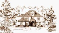 Mediterranean Style Home Design Plan: 19-1192