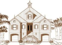 Coastal Style House Plans Plan: 19-1200