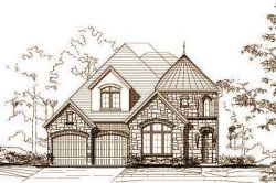 European Style Home Design Plan: 19-1206