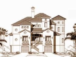 Tuscan Style House Plans Plan: 19-1207
