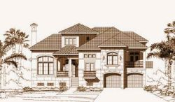 Tuscan Style House Plans Plan: 19-1208