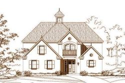 European Style Home Design Plan: 19-1213