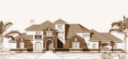 Tuscan Style House Plans Plan: 19-1214