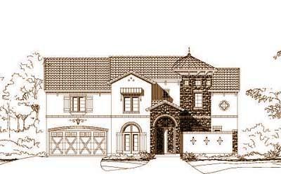 Mediterranean Style Floor Plans Plan: 19-1215