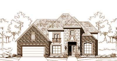 French-country Style Floor Plans Plan: 19-1226