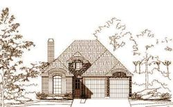 French-Country Style Home Design Plan: 19-1228
