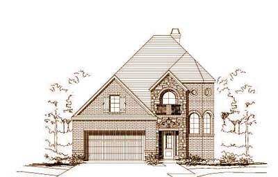 European Style House Plans Plan: 19-1233