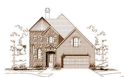 European Style Home Design Plan: 19-1234