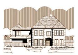 European Style Home Design Plan: 19-1272