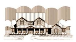 French-Country Style House Plans Plan: 19-1296