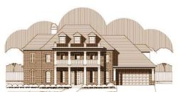 Southern-Colonial Style Floor Plans Plan: 19-1314