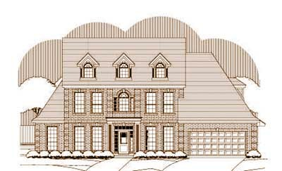 Southern-colonial Style Floor Plans Plan: 19-1317