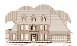 Southern-Colonial Style Home Design Plan: 19-1317