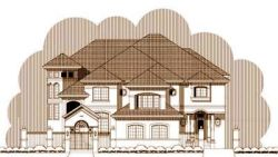 Tuscan Style Home Design Plan: 19-1319