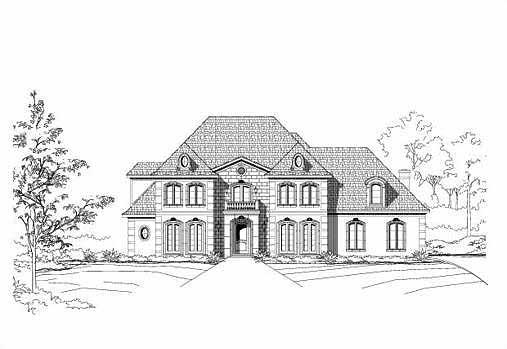 European Style House Plans Plan: 19-132