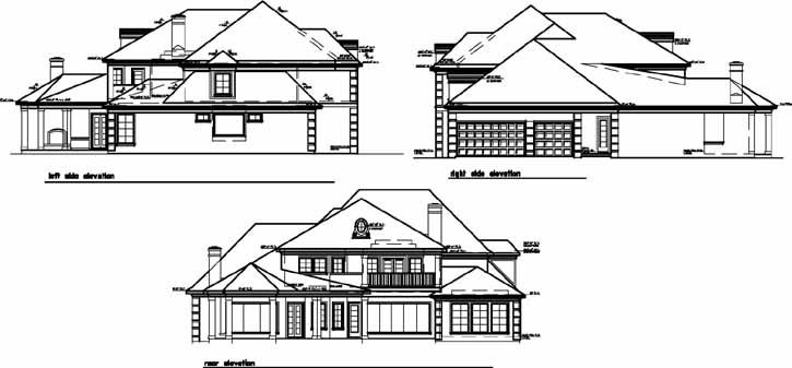Rear Elevation Plan: 19-132