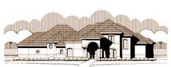 Mediterranean Style Home Design Plan: 19-1320