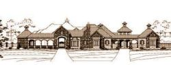 Tuscan Style Home Design Plan: 19-134