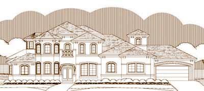 Mediterranean Style House Plans Plan: 19-1385