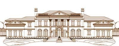 Greek-Revival Style House Plans Plan: 19-1397