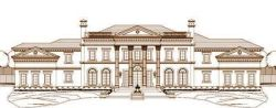 Greek-Revival Style Home Design Plan: 19-1397