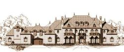 European Style Home Design Plan: 19-1401