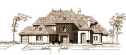 European Style Home Design Plan: 19-141