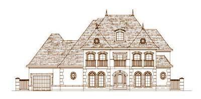 European Style Home Design Plan: 19-1421