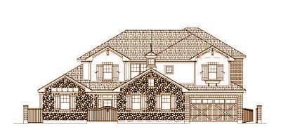 French-country Style Floor Plans Plan: 19-1433