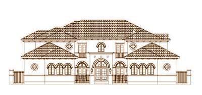 Mediterranean Style House Plans Plan: 19-1434