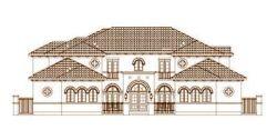 Mediterranean Style Floor Plans Plan: 19-1434
