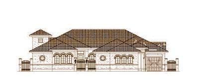 Mediterranean Style House Plans Plan: 19-1445