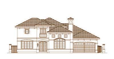 Mediterranean Style Floor Plans Plan: 19-1446