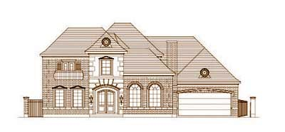 European Style Home Design Plan: 19-1448