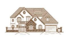 French-Country Style Floor Plans Plan: 19-1451