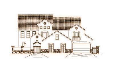European Style Home Design Plan: 19-1452