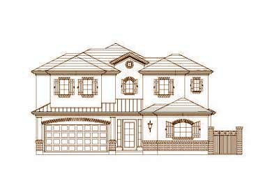 French-country Style Home Design Plan: 19-1467