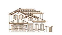European Style Home Design Plan: 19-1475